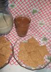 Galletitas integrales en Hogar Vegano