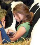 niña vaca